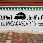 Février 2007: Fresque, Tananarive, Madagascar, Afrique.