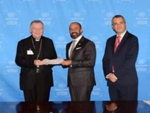 Le cardinal Parolin à l'ONU © Radio Vatican