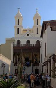 Eglise suspendue, vieux quartier copte du Caire (Egypte)