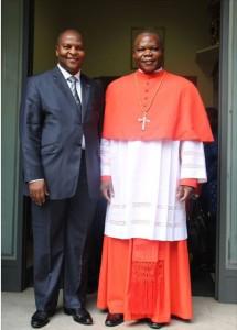 Le président et le nouveau cardinal