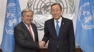 Antonio Guterre et Ban Ki-Moon