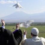 Le pape au Mont Ararat