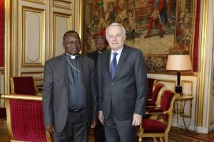 Mgr Utembi et Jean-Marc Ayrault