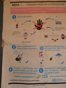 """Affiche de conseils '""""anti-Ebola"""""""