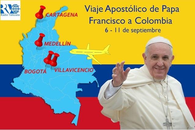 Colombie: voyage du Pape François