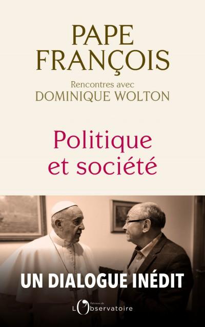 Couverture du livre d'entretien du pape et D. Wolton