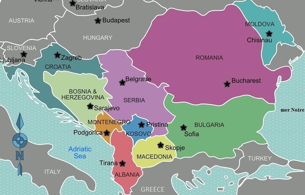 Les Balkans, quel avenir dans l'Europe ? Carte des Balkans occidentaux