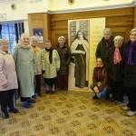 Les participantes à la session lors de la visite de Lisieux