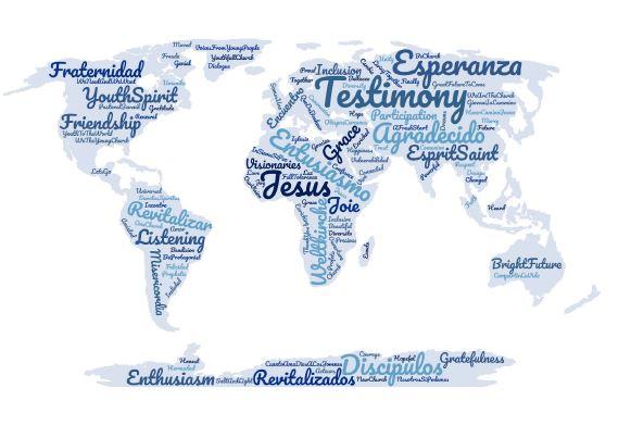Pré-synode des jeunes - Carte du monde