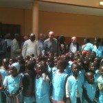 Moulins-Dakar - Avec les enfants du pré-scolaire de la paroisse Saint François-Xavier sur l'île de Fadiouth-Sénégal
