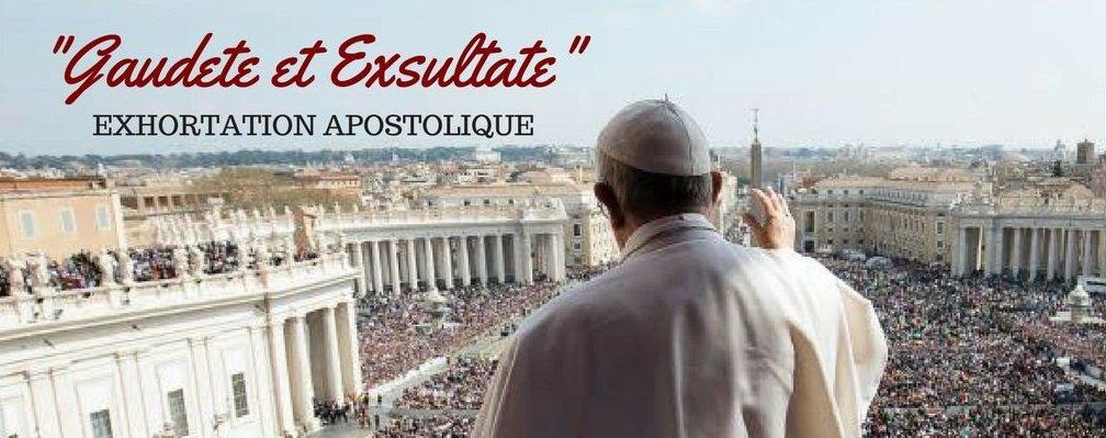 exhortation-apostolique : la joie et l'allégresse