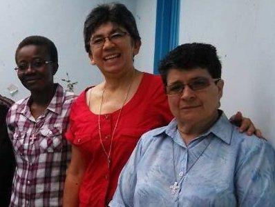 Colombie : missionnaire du Sud au Sud. Sœur Isemane avec Sœur Gelsomina et sœur Herminda