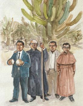 Gabriel Longueville, de Viviers à La Rioja - Wenceslao Pedernera , Enrique Angelelli, Gabriel Longueville et Carlos de Dios Murias.