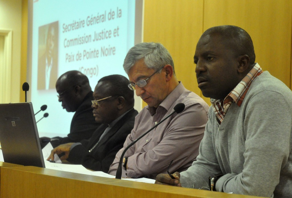 Brice Mackosso, Antoine Sondag avec un évêque et un prêtre du Congo RD
