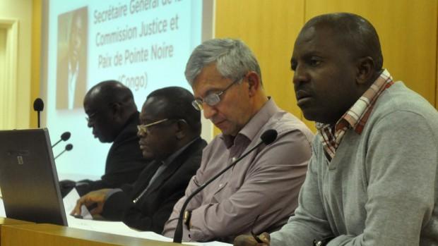 Brice Mackosso, Antoine Sondag et un évêque et un prêtre du Congo RD