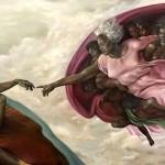 création de la femme (noire) michel ange