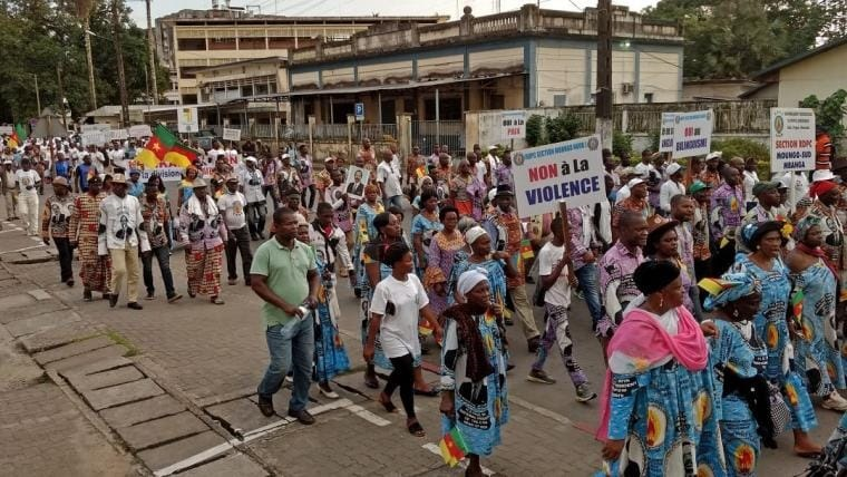 Élection présidentielle au Cameroun. Manifestation_sept2018_Cameroun