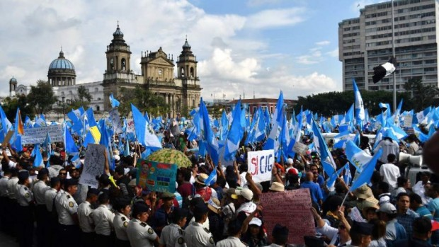 Manifestations au Guatemala