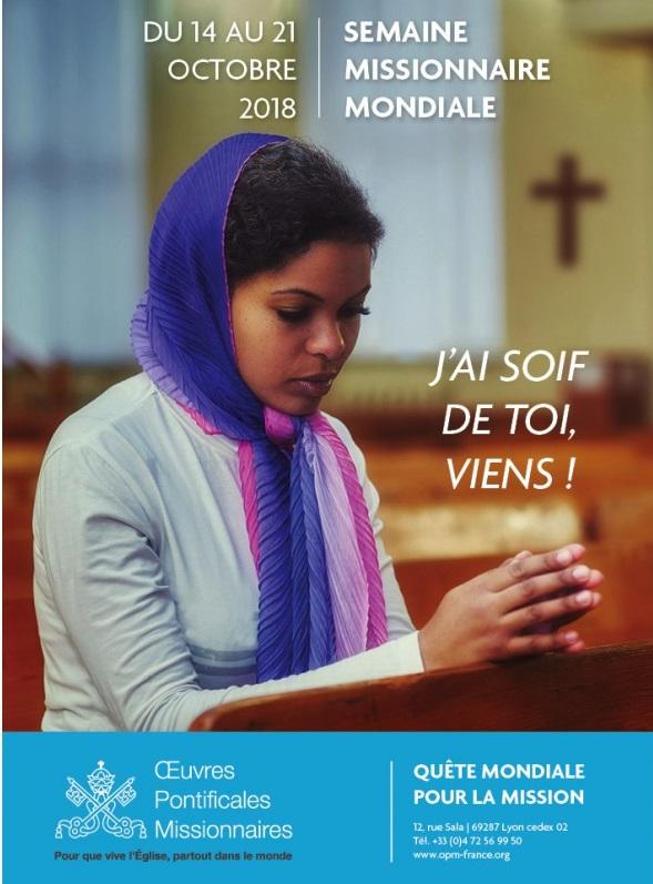 Affiche pour la Journée Missionnaire mondiale 2018.