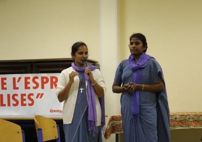 Rencontre fraternelle pour prêtres et religieuses venus d'ailleurs ! Les religieuses MEP, originaires d'Inde, témoignent de leur expérience française.