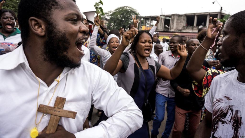 Élections à risque en RDC - Manifestation de catholiques
