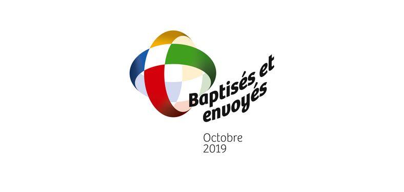Logo du mois missionnaire extraordianaire. Octobre 2019