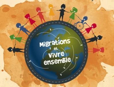 Migrations et Vivre ensemble. Affiche de la campagne des KMS 2018
