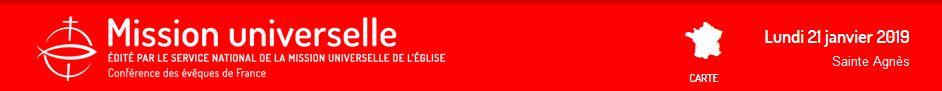 Animer la page Mission universelle de son site diocésain. Bandeau SNMUE