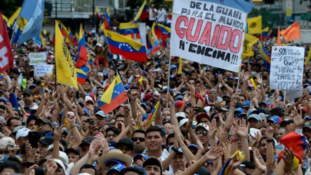 Venezuela : l'espoir existe ! Manifestation de soutien à Juan Guaido, Président de l'Assemblée Nationale Législative.