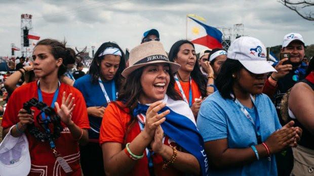 Jeunes aux JMJ qui se sont tenues au Panama en janvier 2019.