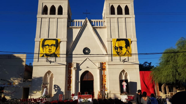 Messe d'action de grâce à Chamical, paroisse de Grabriel Longueville