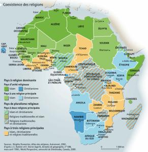 La journée Afrique 2019. Répartition religieuse en Afrique