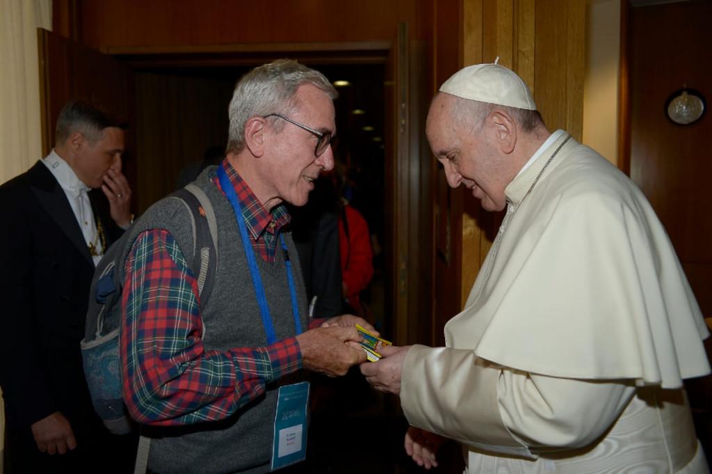 Rencontre avec Xavier Plassat. Xavier Plassat et le pape François