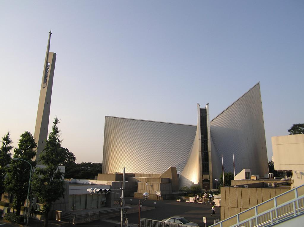 Voyage du pape au Japon. Cathédrale Sainte-Marie de Tokyo