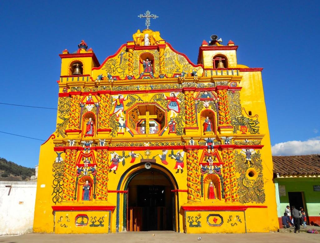 L'Église des conquistadors au Guatemala. Église de San Andrés Xequl, au Guatemala