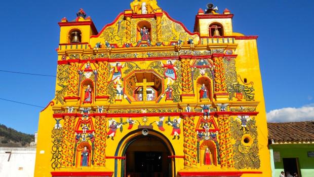 Église de San Andrés Xequl, au Guatemala