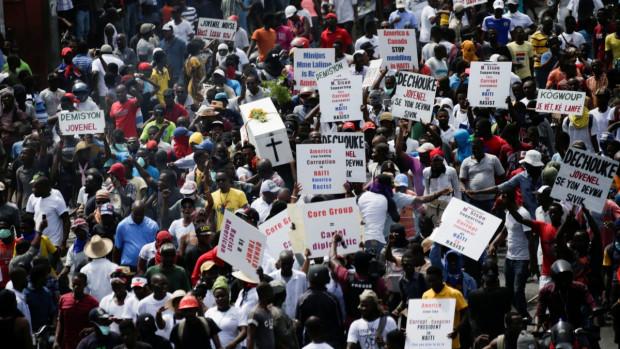 manifestations en Haïti.