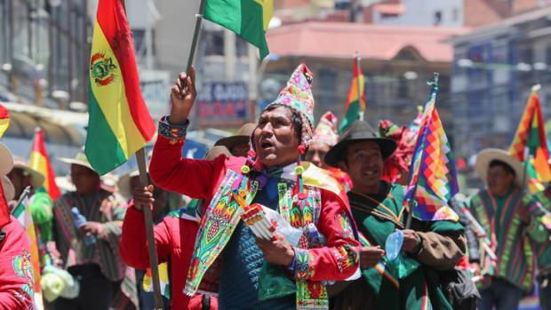 Manifestattion de partisans de l'ancien président Evo Morales