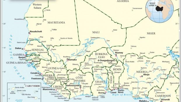 Carte Afrique de l'Ouest