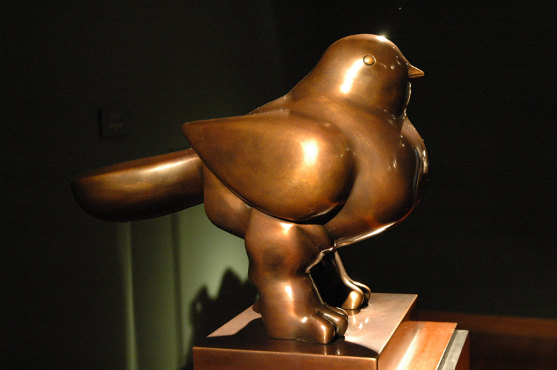 « Oiseau » de Fernando Botero. Musée Botero de Bogotá. Colombie