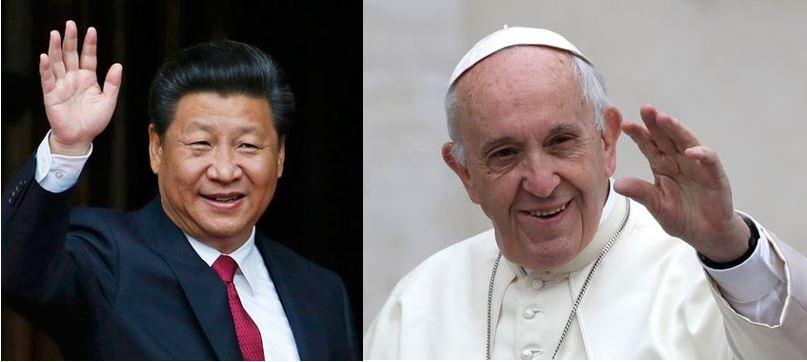 Xi-Jinping_Pape-François. Le coronavirus, la Chine et les catholiques