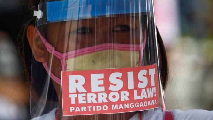 2020.07.21_Protestation_Philippines. Philippines : non à une dérive autoritaire.